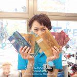 石垣島ダイビングツアーで作ったミンサー織が届きました!