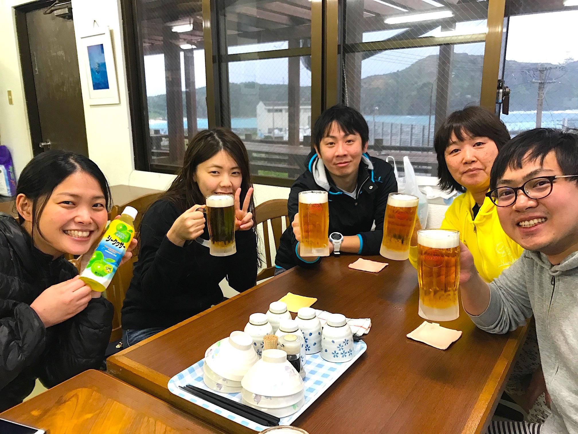 リゾートで飲むビール
