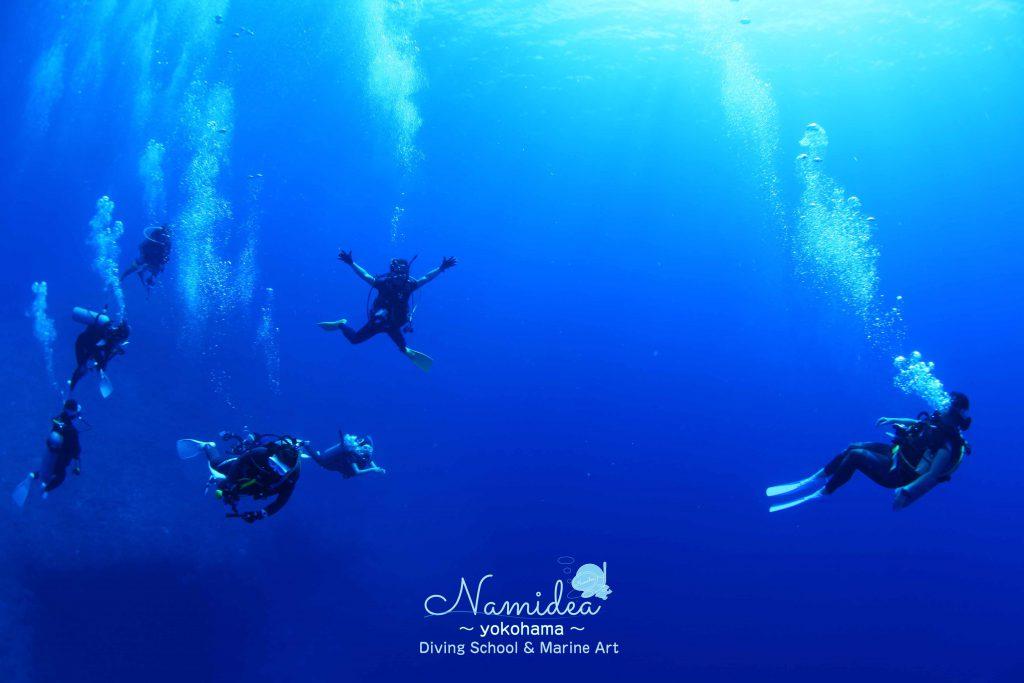 どこまでも広がる青い海グアム
