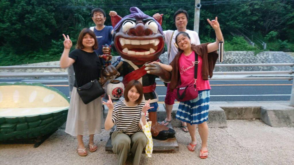 沖縄ダイビングツアーのオフショット