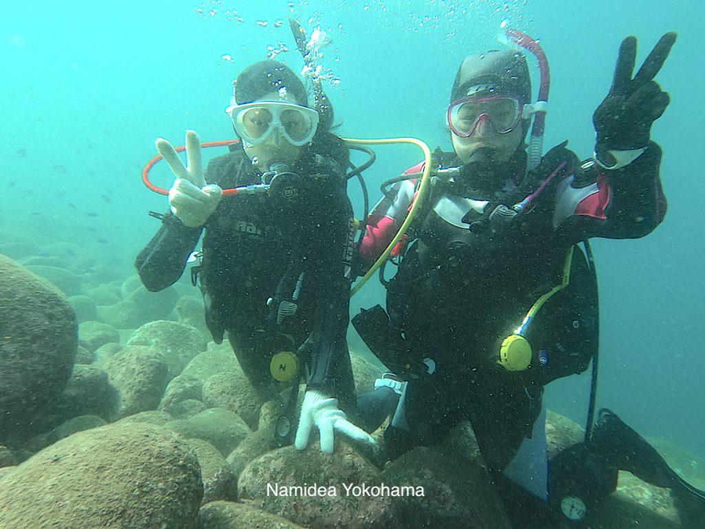 初めての伊豆の海は魚がたくさんいました!