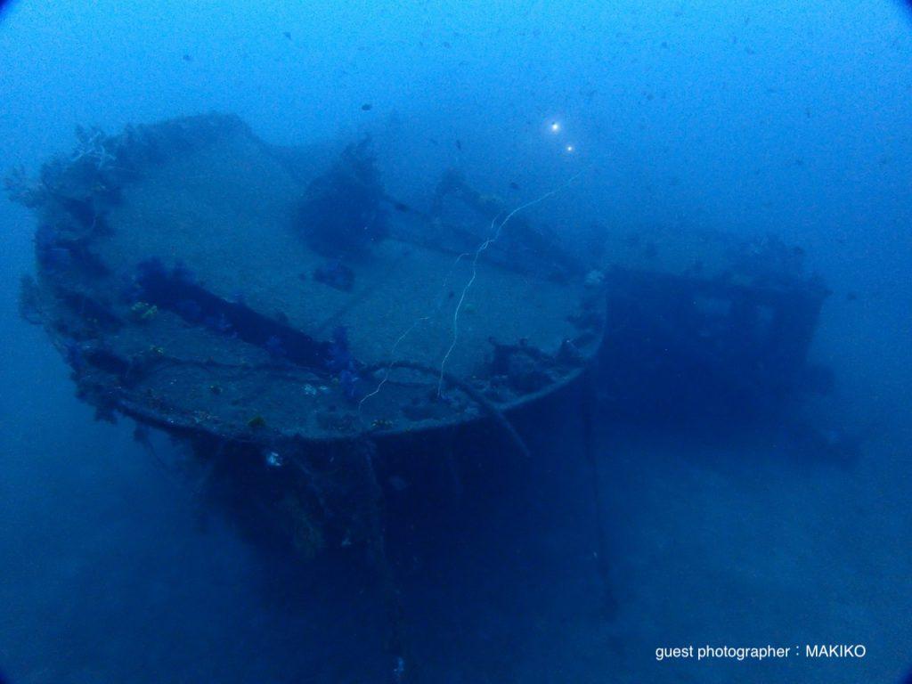 西伊豆土肥の大型沈船 ボートダイビング